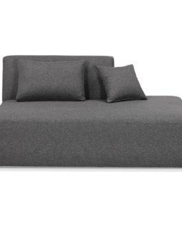 Élément de canapé modulable ´BELAGIO BENCH´ gris foncé – méridienne droite