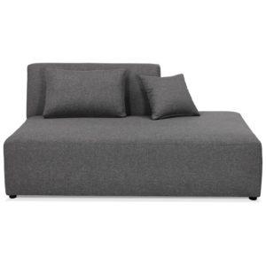 lément de canapé modulable ´BELAGIO BENCH´ gris foncé méridienne droite 300x300 - Élément de canapé modulable ´BELAGIO BENCH´ gris foncé - méridienne droite