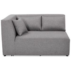 Élément de canapé modulable ´BELAGIO CORNER´ gris clair - coin angle gauche