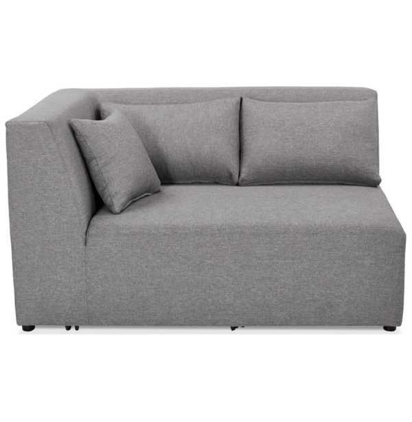 Élément de canapé modulable ´BELAGIO CORNER´ gris clair – coin angle gauche