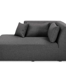 Élément de canapé modulable ´BELAGIO LONGCHAIR´ gris foncé – méridienne angle gauche