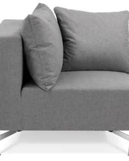 Élément de canapé modulable ´VOLTAIRE CORNER´ gris – coin de canapé