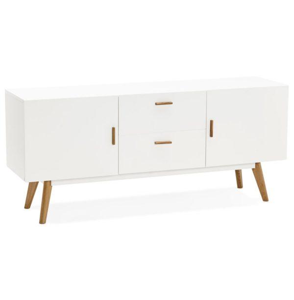 Bahut design ´DIEGO´ en bois blanc style scandinave