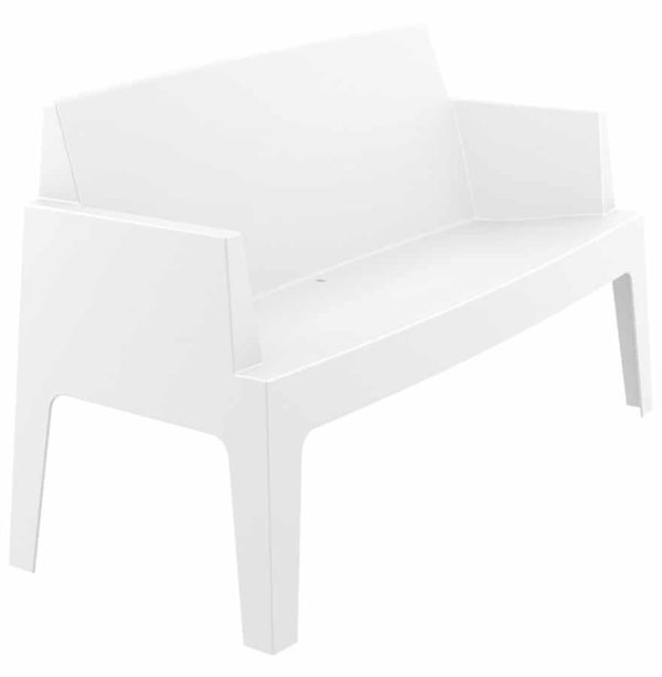 banc de jardin plemo xl blanc en mati re plastique addesign. Black Bedroom Furniture Sets. Home Design Ideas