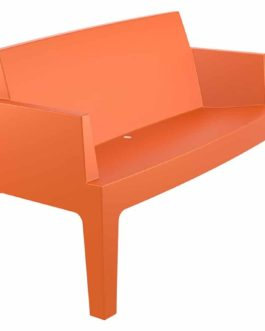 Banc de jardin ´PLEMO XL´ orange en matière plastique