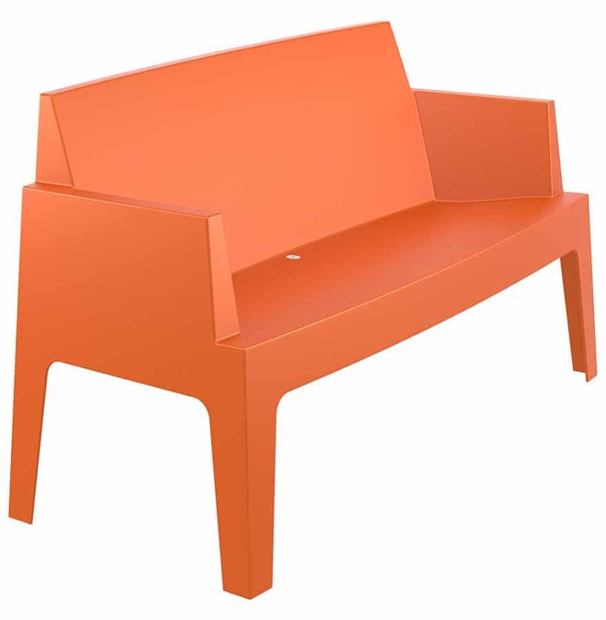 Banc De Jardin Plemo Xl Orange En Matière Plastique Addesign