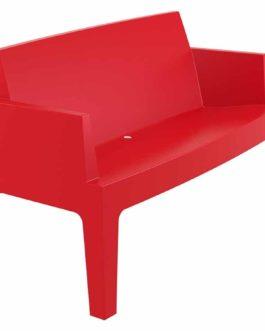 Banc de jardin ´PLEMO XL´ rouge en matière plastique