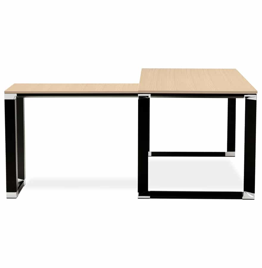bureau d angle design xline en bois finition naturelle. Black Bedroom Furniture Sets. Home Design Ideas