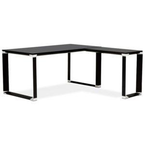 Bureau de direction en angle design ´XLINE´ en bois noir (angle au choix)