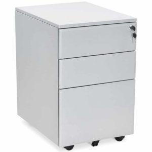 Caisson de rangement ´DALI´ gris à tiroirs pour bureau 300x300 - Mobilier Design et Scandinave