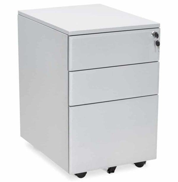 Caisson de rangement ´DALI´ gris à tiroirs pour bureau