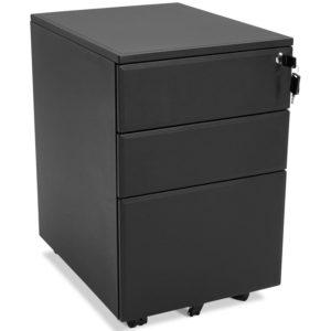 Caisson de rangement ´DALI´ noir à tiroirs pour bureau 300x300 - Caisson de rangement ´DALI´ noir à tiroirs pour bureau