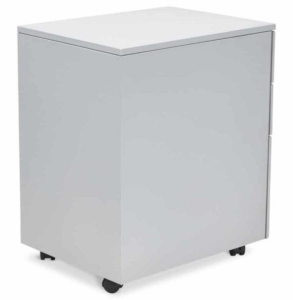 caisson de rangement dali gris tiroirs pour bureau addesign. Black Bedroom Furniture Sets. Home Design Ideas