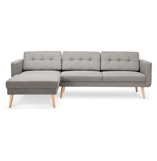 Canapé-d´angle-´COLONEL´-gris-clair-avec-méridienne-angle-à-gauche-1