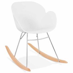 Chaise à bascule design ´BASKUL´ blanche en matière plastique