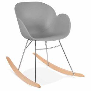 Chaise à bascule design ´BASKUL´ grise en matière plastique 300x300 - Chaise à bascule design ´BASKUL´ grise en matière plastique