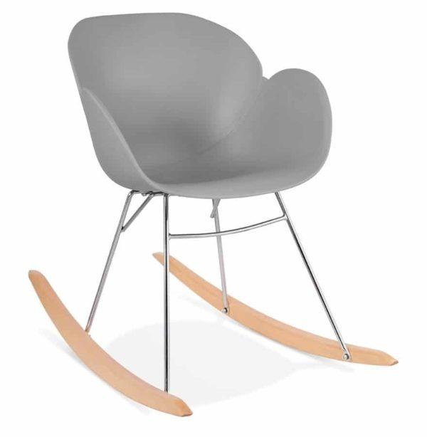 Chaise à bascule design ´BASKUL´ grise en matière plastique
