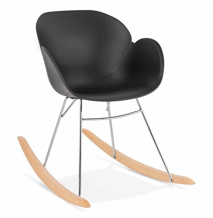 Chaise à bascule design ´BASKUL´ noire en matière plastique