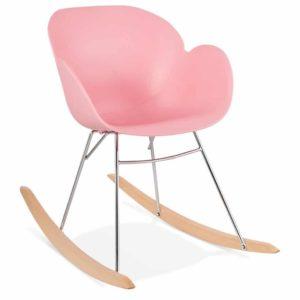 Chaise à bascule design ´BASKUL´ rose en matière plastique