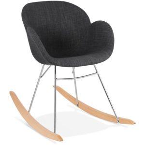 Chaise à bascule design ´ROCKY´ grise foncé en tissu 300x300 - Chaise à bascule design ´ROCKY´ grise foncé en tissu