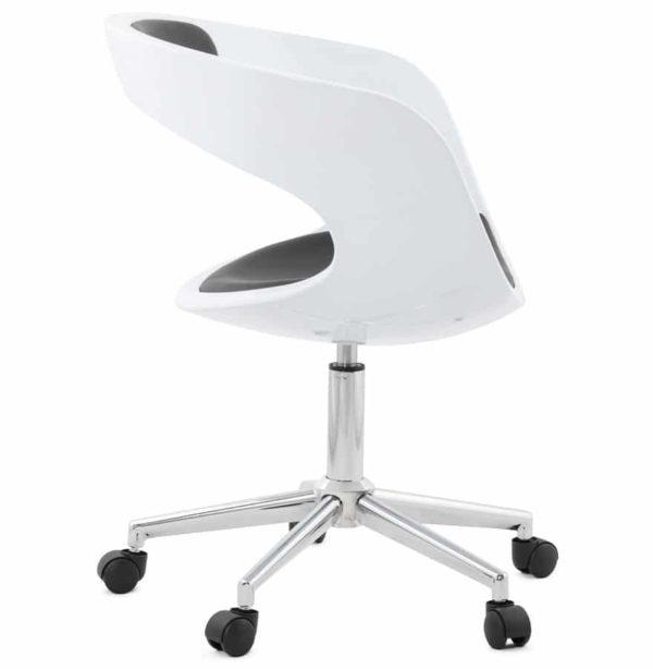 Chaise-de-bureau-´STRATO´-blanche-et-noire-sur-roulettes-1