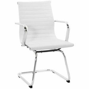 Chaise de bureau design ´GIGA´ en matière synthétique blanche