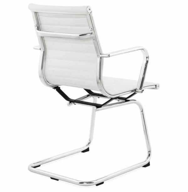 Chaise de bureau design giga en mati re synth tique - Chaise de bureau blanche design ...