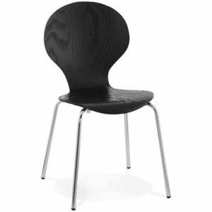Chaise de cuisine ´BUZZ´ en bois noir 300x300 - Chaise de cuisine ´BUZZ´ en bois noir