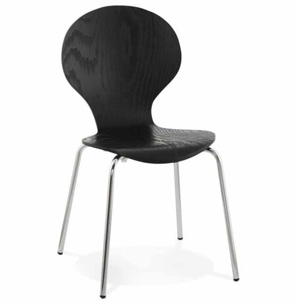 Chaise de cuisine ´BUZZ´ en bois noir