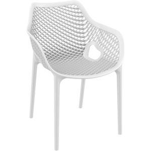 Chaise de jardin / terrasse ´SISTER´ blanche en matière plastique