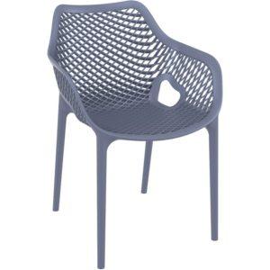Chaise de jardin / terrasse ´SISTER´ grise foncée en matière plastique