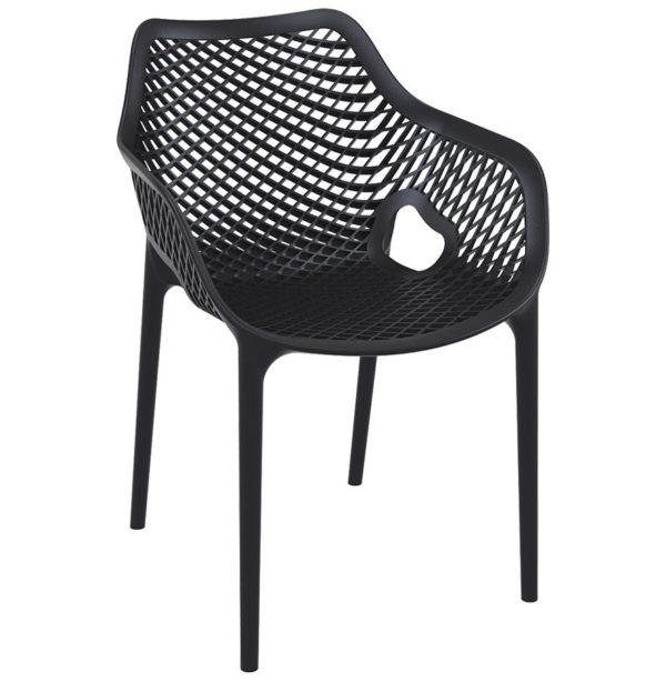 Chaise de jardin / terrasse ´SISTER´ noire en matière plastique