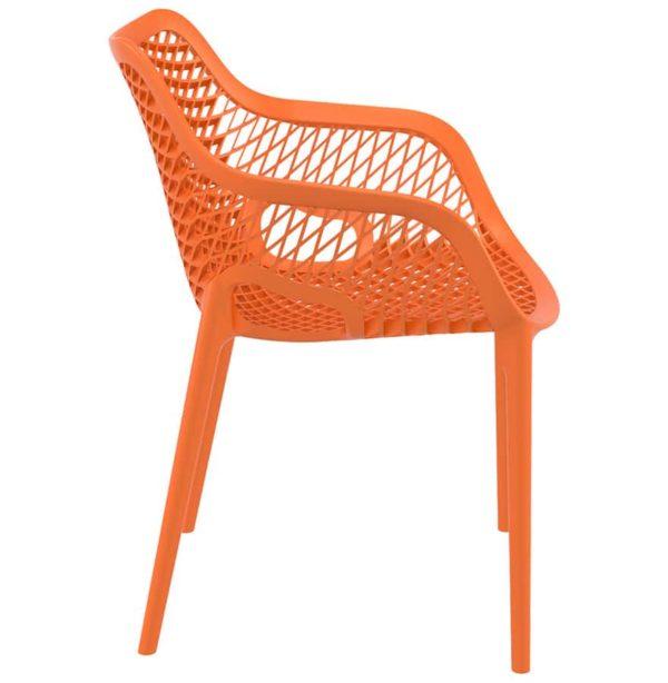 Chaise-de-jardin-terrasse-´SISTER´-orange-en-matière-plastique-1
