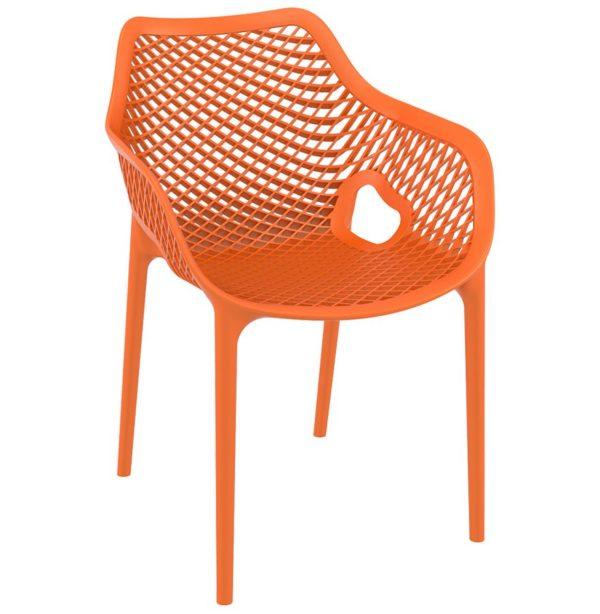 Chaise de jardin / terrasse ´SISTER´ orange en matière plastique