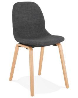 Chaise de salle à manger ´CELTIK´ en tissu gris style scandinave