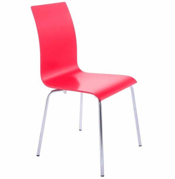 Chaise de salle à manger design ´ESPERA´ en bois rouge
