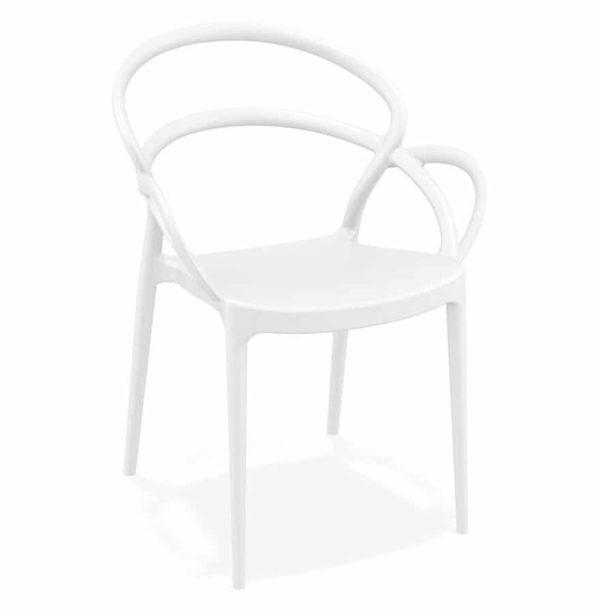 Chaise de terrasse ´JULIETTE´ design blanche