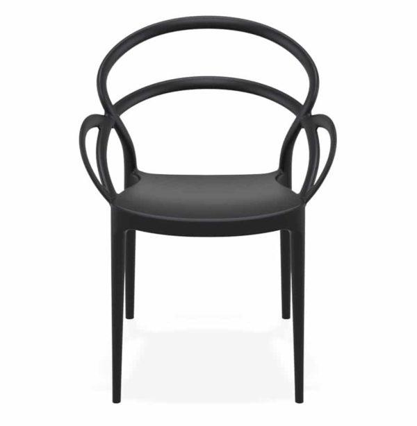Chaise-de-terrasse-´JULIETTE´-design-noire-1
