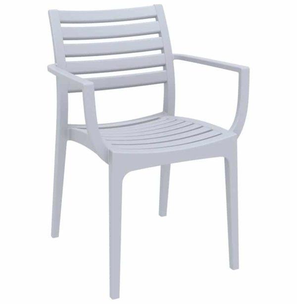 Chaise de terrasse ´ULTIMO´ design grise claire