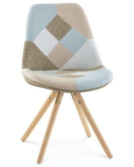 Chaise design ´ARTIST´ style patchwork
