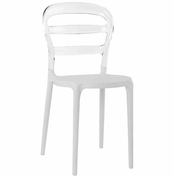 chaise design baro blanche et transparente en matire plastique - Chaise Design Transparente