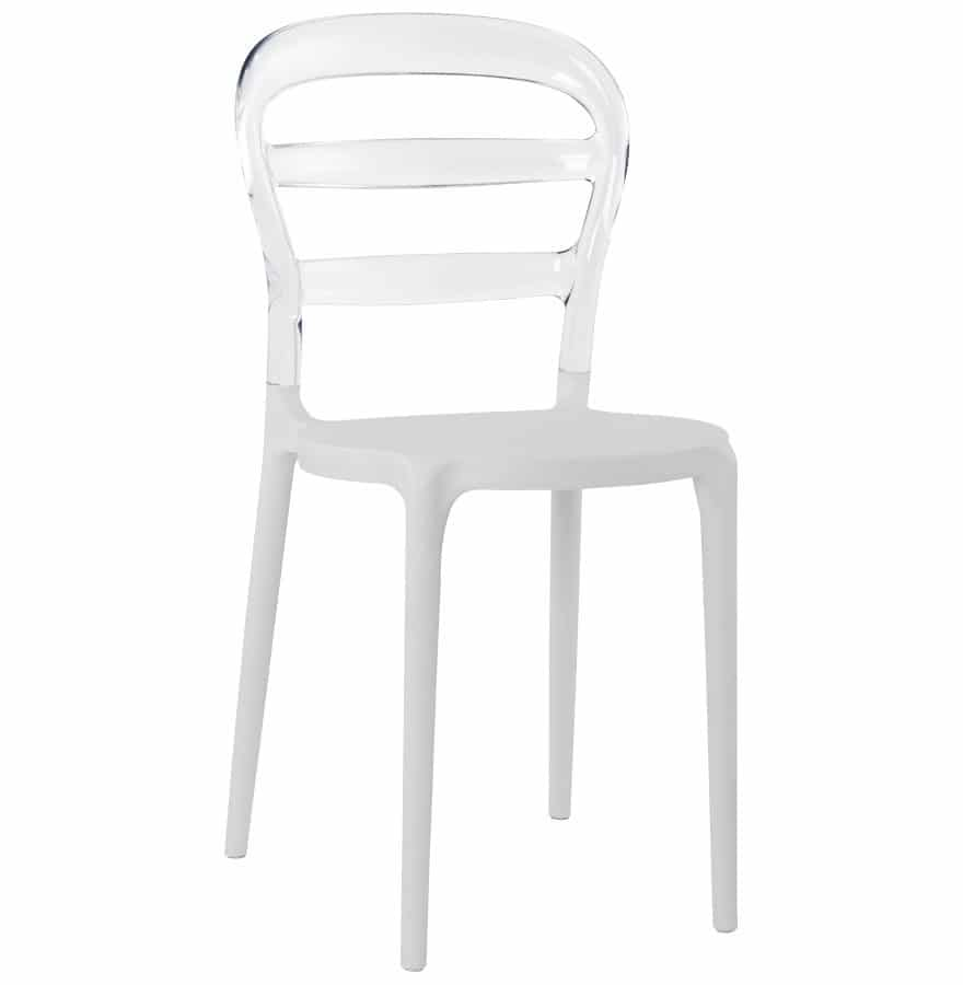 chaises voltaire empilable blanche