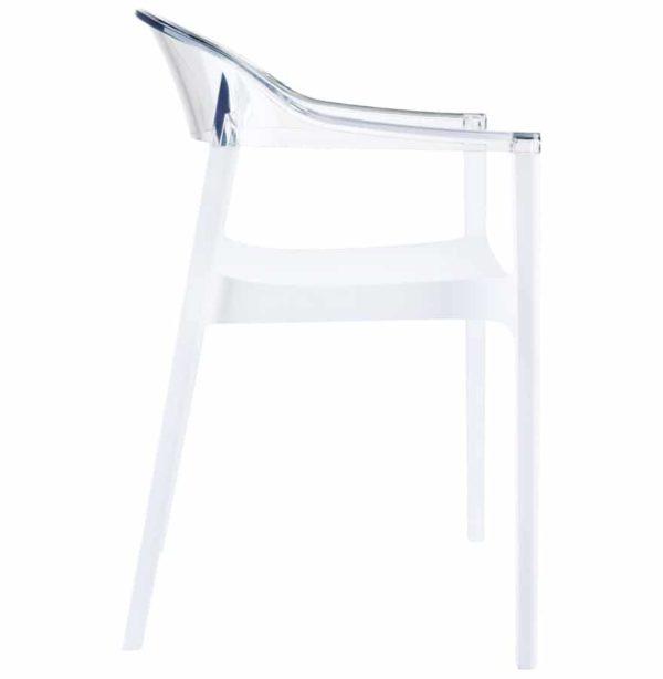 Chaise-design-´EMA´-blanche-et-transparente-1