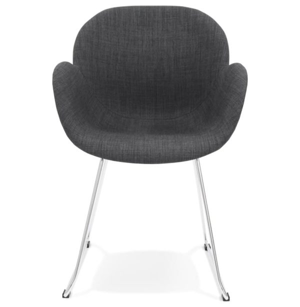 Chaise Design JUMBO Grise Fonce En Tissu