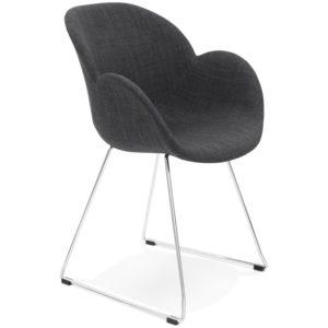 Chaise design ´JUMBO´ grise foncée en tissu
