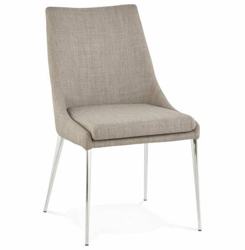 Chaise design ´LALY´ en tissu gris