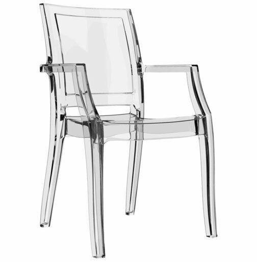 Chaise design ´NALA´ transparente en matière plastique