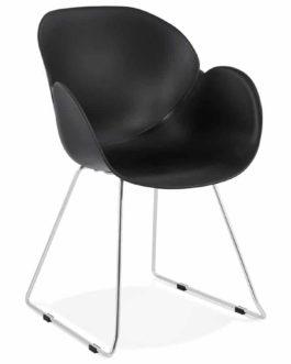 Chaise design ´NEGO´ noire en matière plastique