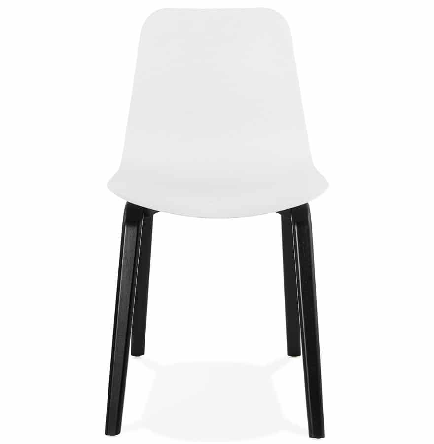 Chaise Design PACIFIK Blanche Avec Pieds En
