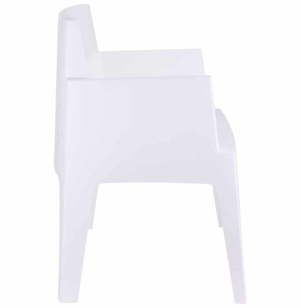 Chaise-design-´PLEMO´-blanche-en-matière-plastique-1